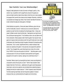 Good Proposal Essay Topics Ban Fortnite Save Our Relationships An Argumentative Essay Activity Health Care Essay also Spm English Essay Ban Fortnite Save Our Relationships An Argumentative Essay  English Composition Essay Examples