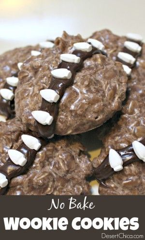 Easy No Bake Wookie Cookies