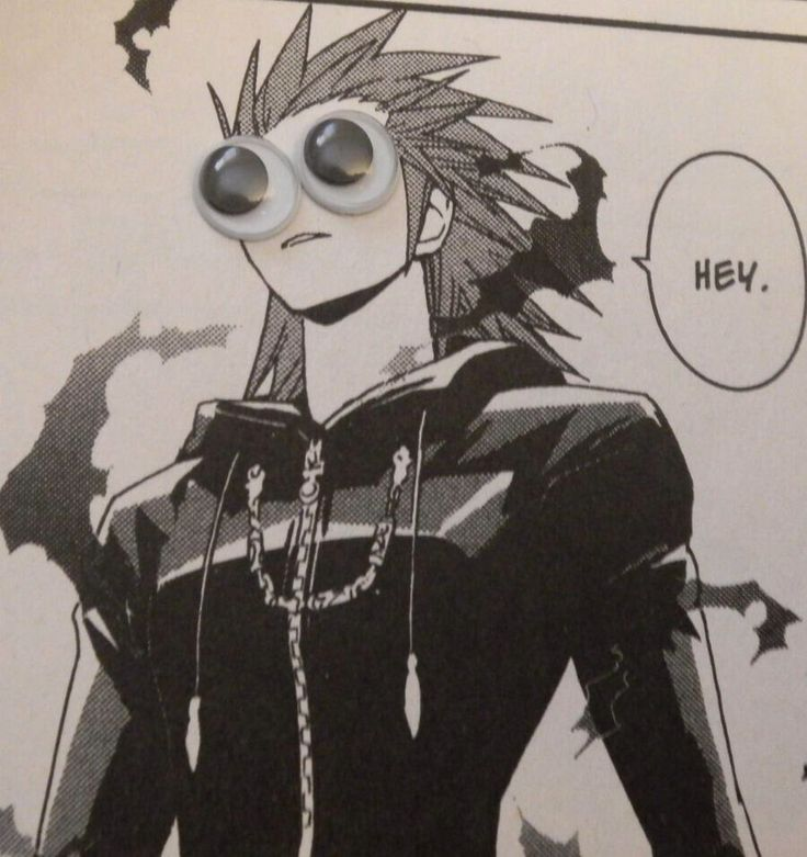 This gets me every time xD | I thought those were goggles at first, but I guess they're googly eyes lol