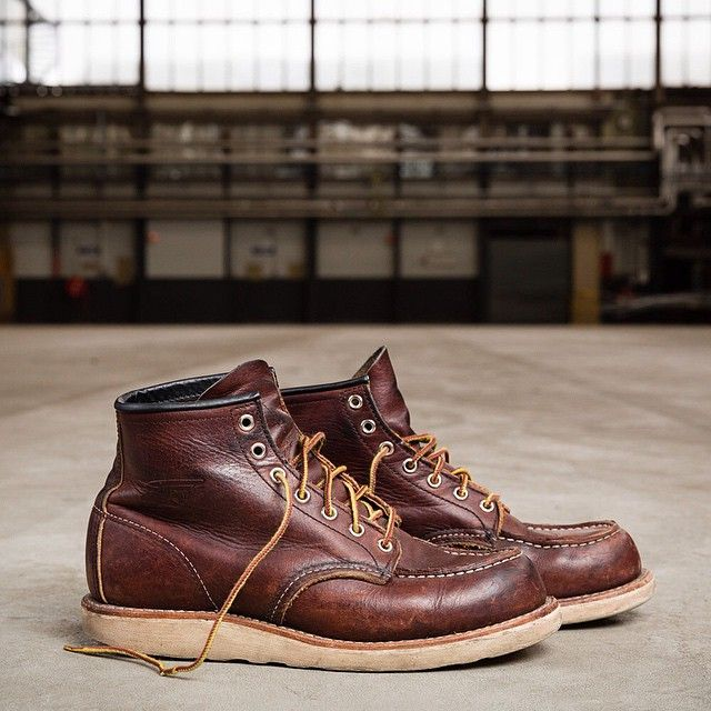 The 8138 Moc Toe; triple stitch quality and a Goodyear welt construction allowing for a resole. This is a boot made to last. #redwingshoes #madetolast #myredwings