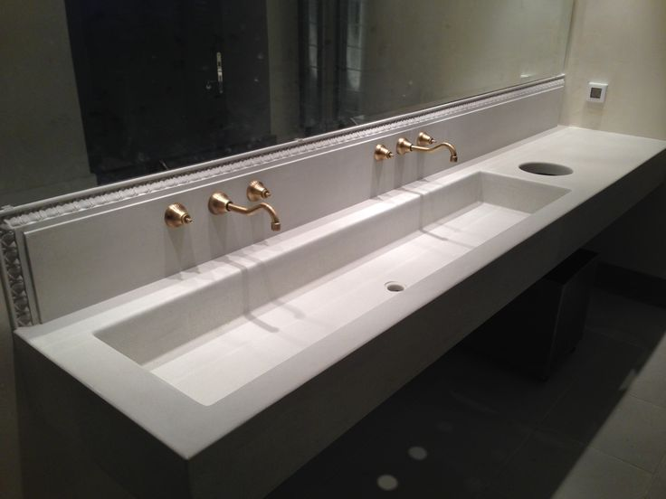 Rest Room sink from GRC, for the restaurant Cookoovaya in Athens. Made by Hellenic Plasterwork