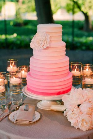 Ombre Pink Cake: Ombre Cakes, Pink Wedding, Ideas, Pink Cakes, Cakes Tables, Weddings, Colors, Wedding Cakes, Weddingcak