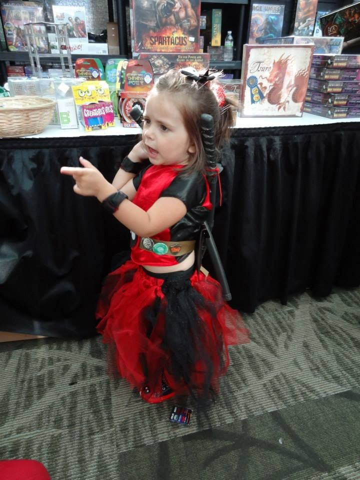 """""""This is Princess Dead Pool. My 3 year old told me EXACTLY how she wanted the costume to look and walked me through the entire thing, bossing me around. It was so much fun."""""""