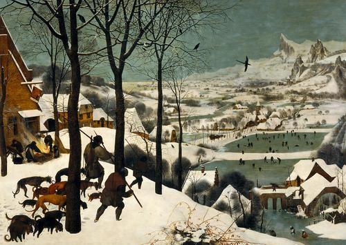 Jäger im Schnee (Winter)   Pieter Bruegel d. Ä.   1565 datiert    Wien, Art historical museum 12/2013