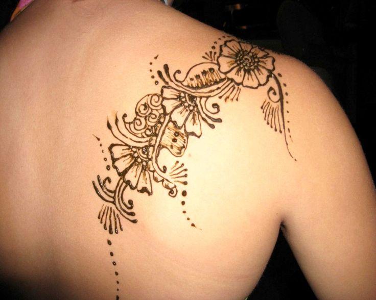 Written Tattoos for Women | Tattoo Ideas, Black Henna Shoulder Tattoos For Women: Shoulder Tattoos ...