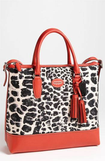 COACH 'Legacy Ocelot Print - Rory' Satchel | Nordstrom  A touch of animal print is never out