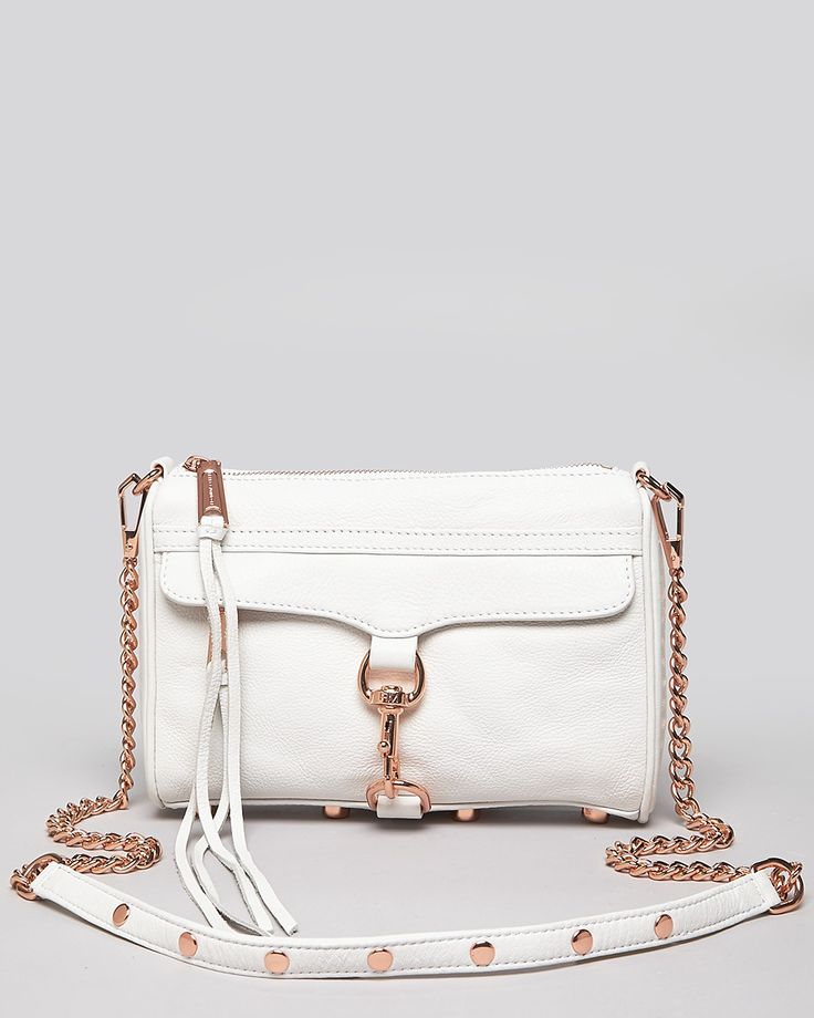 Rebecca Minkoff, Mini MAC, White with Rose Gold hardware