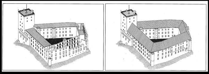 Det middelalderlige Koldinghus blev påbegyndt i 1248. Arkitekten er ukendt. Arkitekternes restaurering er baseret på, at alle slottes tidstypiske træk bevares som en selvstændig fortælleværdi.