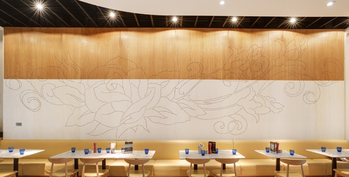 Plymouth restaurant wood wall design