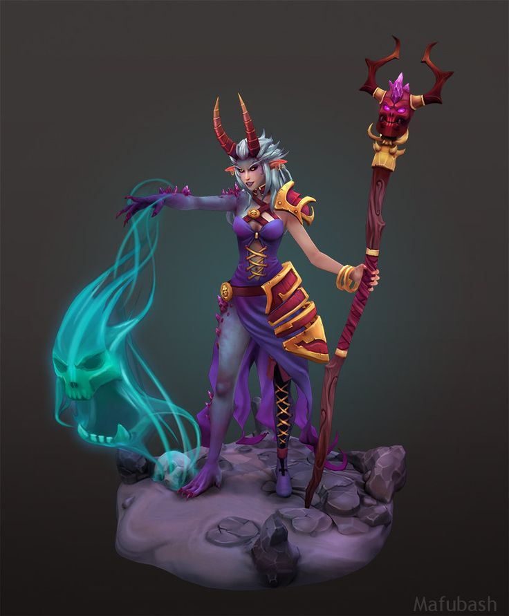 Demon Sorceress, Matt B on ArtStation at https://www.artstation.com/artwork/demon-sorceress