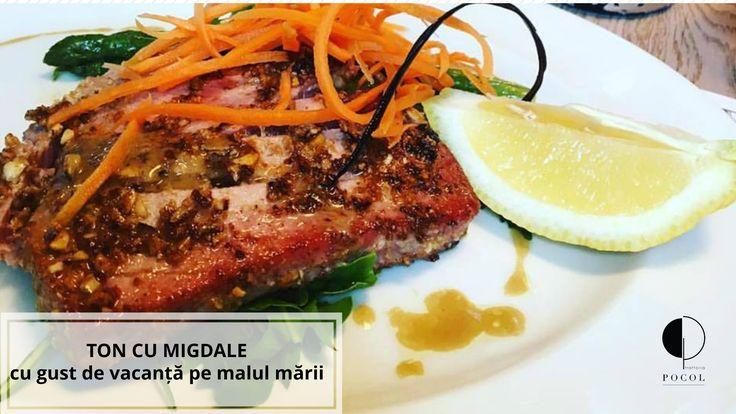 Tuna with almonds. Trattoria Pocol. Brasov. Delicacies. Speciality. Italian style.