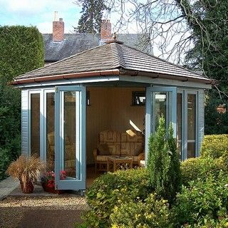 outdoor garden office. i would love an outdoor music studio like this garden office