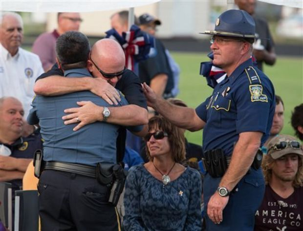 Here's a breakout of all the states where two or more officers were killed this year by gunfire in 2015: 6 in Louisiana, including 1 U.S. government officer 3 in New York, including 2 U.S. government officers 3 in California, including 1 police dog 2 in Ohio, including 1 police dog 2 in Mississippi (according to the Officer Down Memorial Page, which tracks the data)