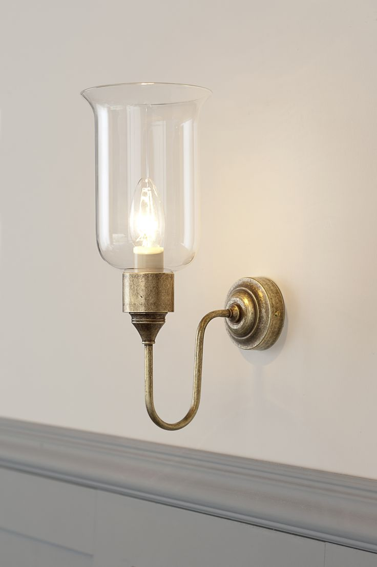 Chester #WallLight in #Antiqued #Brass