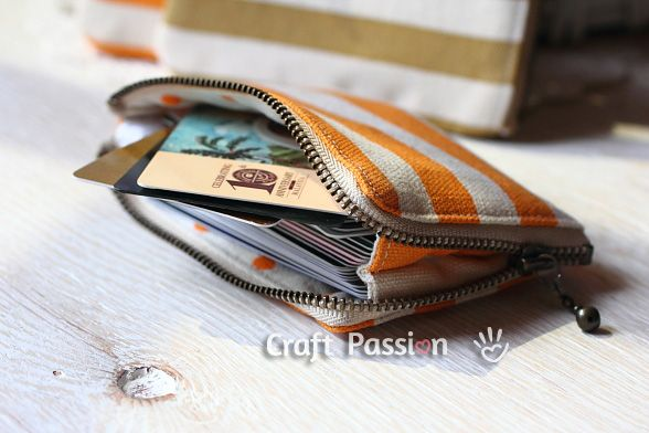 Have you ever had too many cards for your wallet? Get the pattern and tutorial to sew a zipper card pouch and don't have to struggle with the cards anymore.