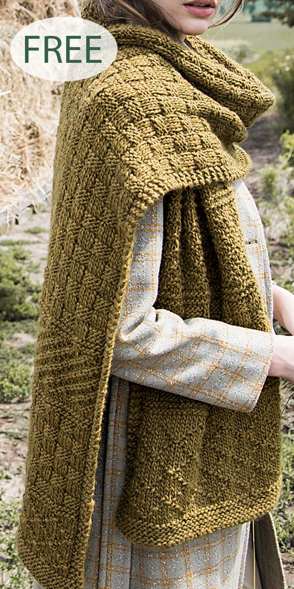 Free Knitting Pattern for Gansey Texture Mix Scarf – Scarf with alternating sect…