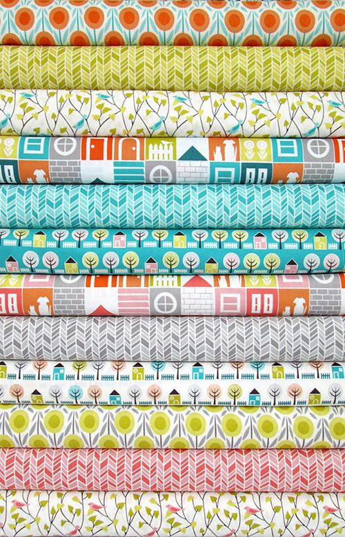 'Floating On Cloud9: Cloud9 Fabrics for Jo-ann Fabrics | House & Garden' - These brightly coloured fabrics would be perfect used in a children's area.