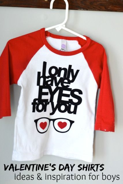 I only have eyes for you - the perfect DIY Valentine's Day shirt for boys.