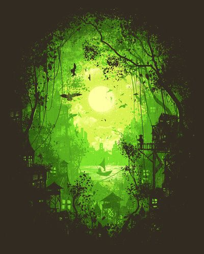 """""""Autumn Green"""" Art Print by Robson Borges on Society6."""