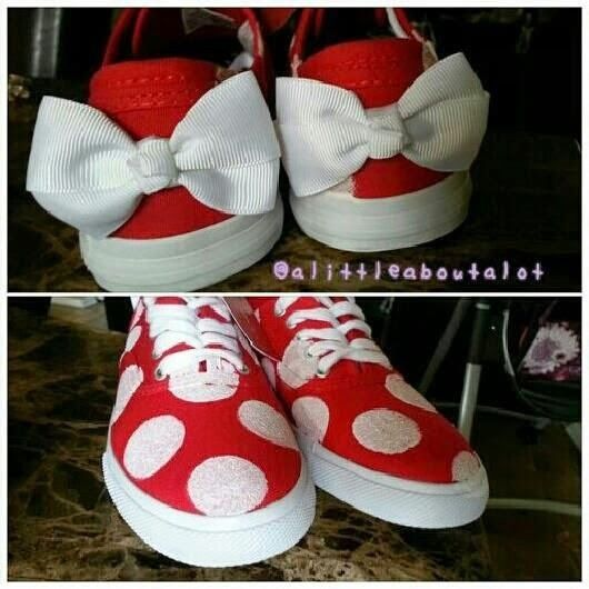 Minnie shoes (and 29 more Disney crafts)