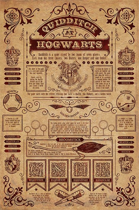 Harry Potter Movie Poster / Print (Quidditch at Hogwarts