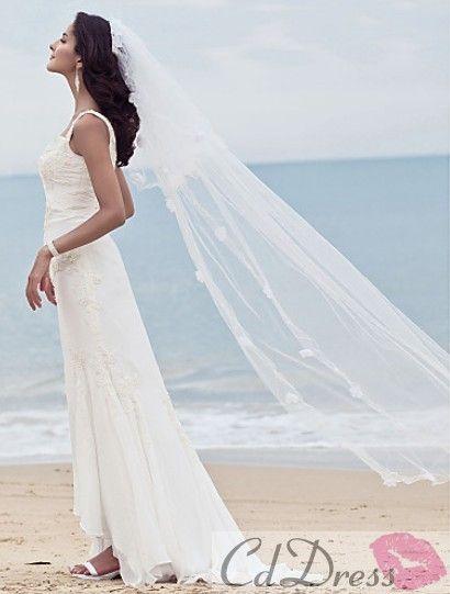 beach wedding veils ideas