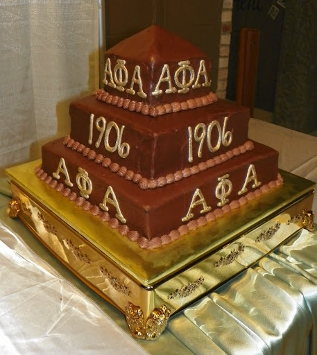 Check out this Alpha Phi Alpha Fraternity, Inc. cake!