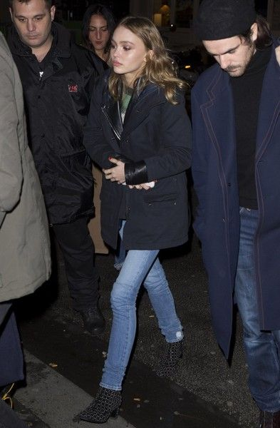 Actress Lily-Rose Depp leaves the 'C A Vous' TV show in Paris, France on November 9, 2016.