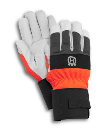 A one size durable glove made with a goat leather palm with spandex fabric on the back. Goat leather has a good protection against moisture since it contains natural fat and is therefore suitable for demanding jobs. Rubberized cuff with cotton binding for a perfect fit around the wrist. A necessity in mower parts and accessories.