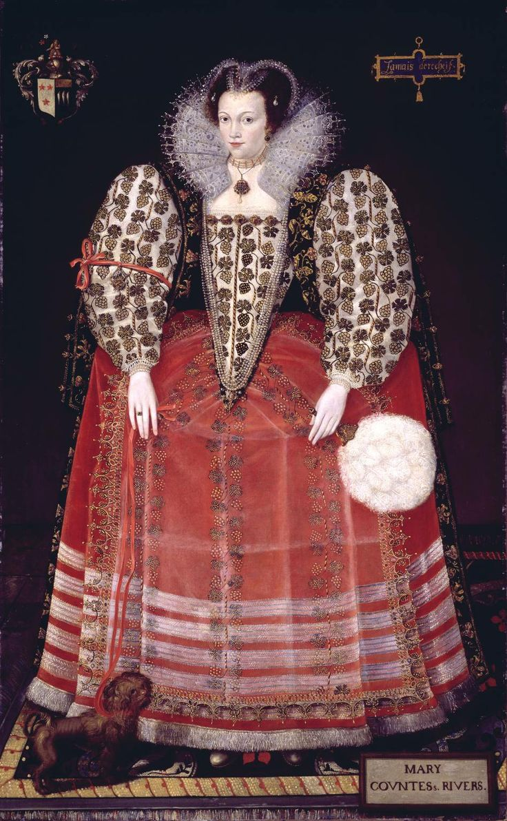 """Portrait of Mary Kytson, Lady Darcy of Chiche, later Lady Rivers"", unknown painter, ca. 1590; TC L02466"