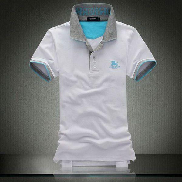 ralph lauren polo outlet online Burberry Equestrian Emblem Collar Short Sleeve Men's Polo Shirt White http://www.poloshirtoutlet.us/