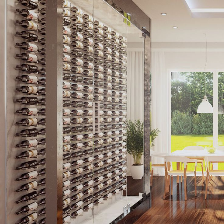 The VIntageView Vino Pins Series provides an easy-to-install, minimalist wine rack custom cellar solution with ample opportunity to express your artistic flair.