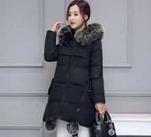 <January's Offer! Click Image to Buy!> Maternity Winter Coats   new Faux Fur Collar Hooded Down Parka Maternity Pregnant Thicken Warm Outwear Women Jackets  Coats -- Just click the image to view the details on  AliExpress.com