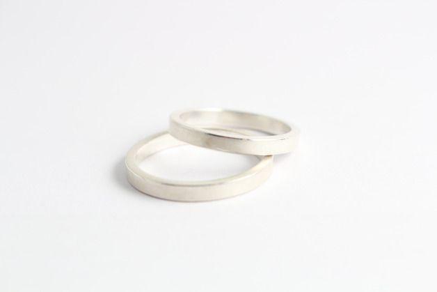 Eheringe aus Sterlingsilber // silver wedding bands/rings via DaWanda.com