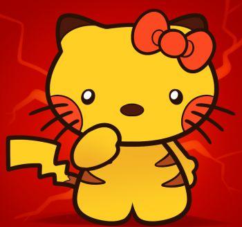 how to draw pikachu hello kitty
