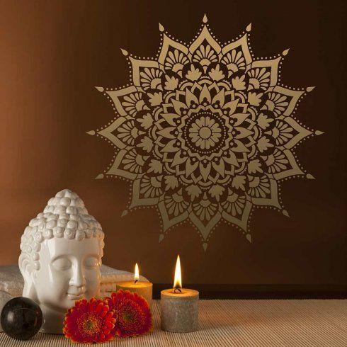 Radiance Mandala Stencil- large yoga decal, Cutting Edge Stencils. http://www.cuttingedgestencils.com/radiance-mandala-stencil-yoga-mandala-stencils-decal.html