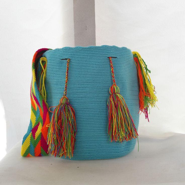 Mochila Wayuu unicolor, By ecoaccesorios.com.co