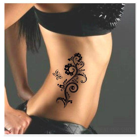 55 best flower temporary tattoos images on pinterest for Best fake tattoos