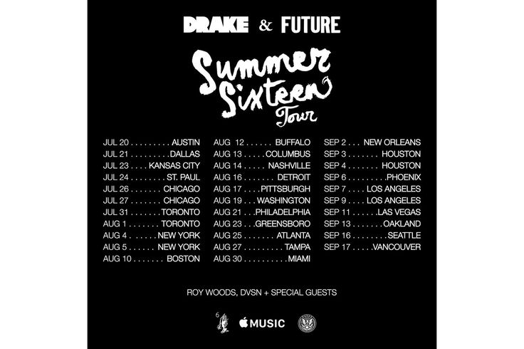 "Here Are the Dates for Drake & Future's ""Summer Sixteen"" Tour #thatdope #sneakers #luxury #dope #fashion #trending"
