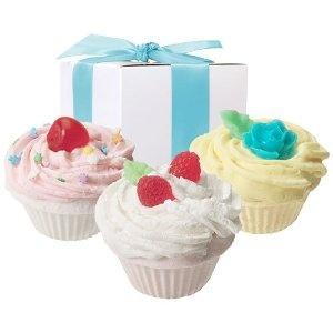 Fizzy Baker Cupcake Trio Bath Bomb Gift Box