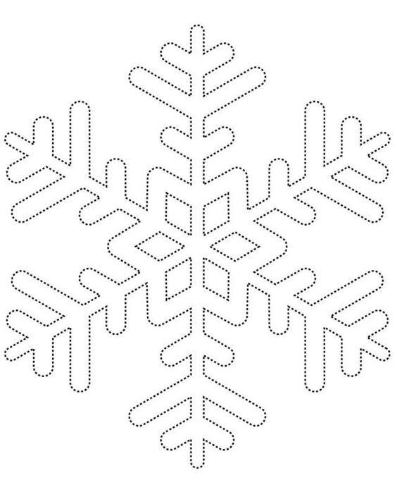 25+ parasta ideaa Pinterestissä Snowflake template - snowflake template