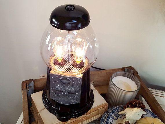 Edison Bulb Lamp Gumball  Machine  Industrial by NewEdisonVintage