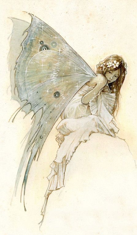 ≍ Nature's Fairy Nymphs ≍ magical elves, sprites, pixies and winged woodland faeries - Jean-Baptiste Monge: