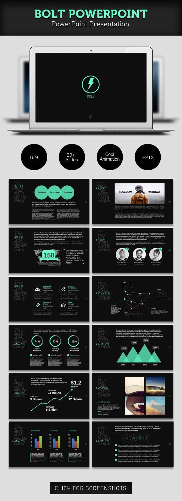701 best powerpoint template images on pinterest | script fonts, Modern powerpoint
