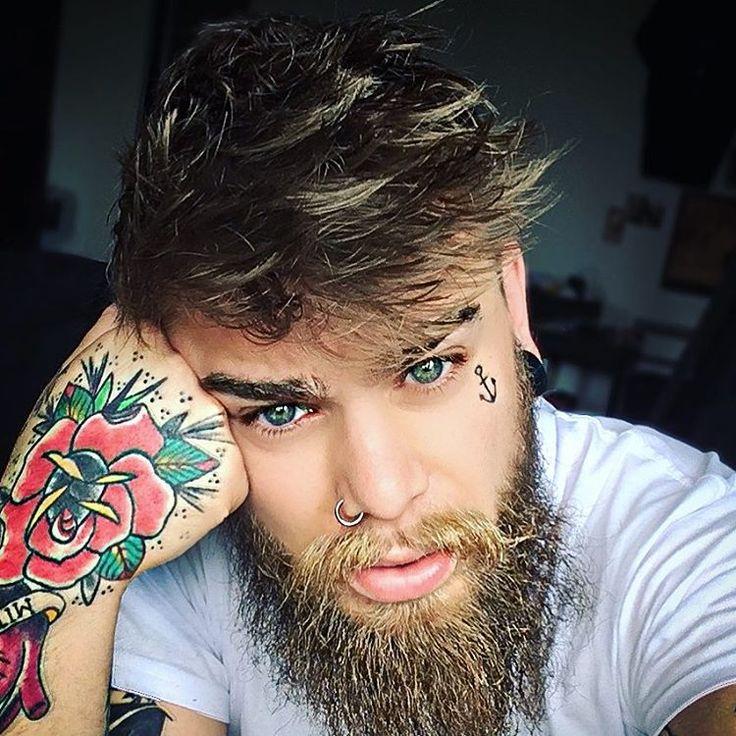 "1,516 Likes, 12 Comments - JOHNNY DARKO (@mr_johnny_darko) on Instagram: ""🌹 WE'RE ALL MAD HERE 🌹// #selfie #tattoo #inked #inkedguys #beardsandtattoos #beard #bearded…"""