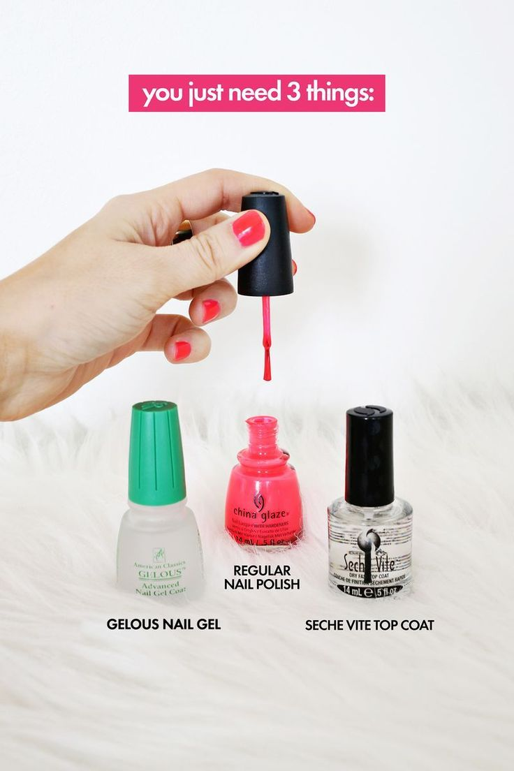 Do Your Own Gel Manicure at Home! abeautifulmess.com #gel #manicure #nails