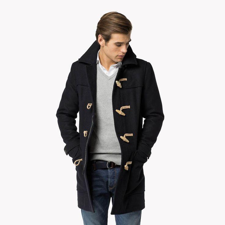 Comfortable Melange Duffle Coat. Tommy Hilfiger.