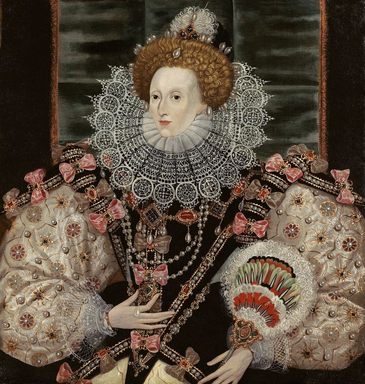 Queen Elizabeth I - The last monarch of the Tudor Dynasty. Daughter of 2 notorious parents Henry VIII & Anne Boleyn, Elizabeth was not the sex that Henry wanted & after he had Liz's mother executed he neglected her for awhile until Jane Seymour, Henry's 3rd wife brought young Liz back to court. Elizabeth survived long enough to reach the throne & rule a long reign.