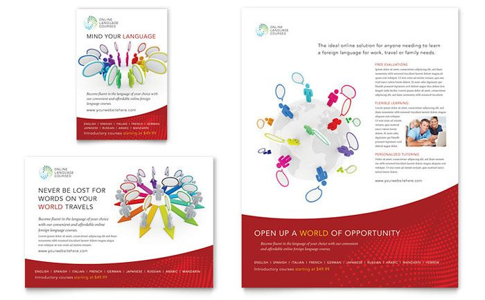 Online Education Flyer Templates Education \ Training Flyer - sample preschool brochure