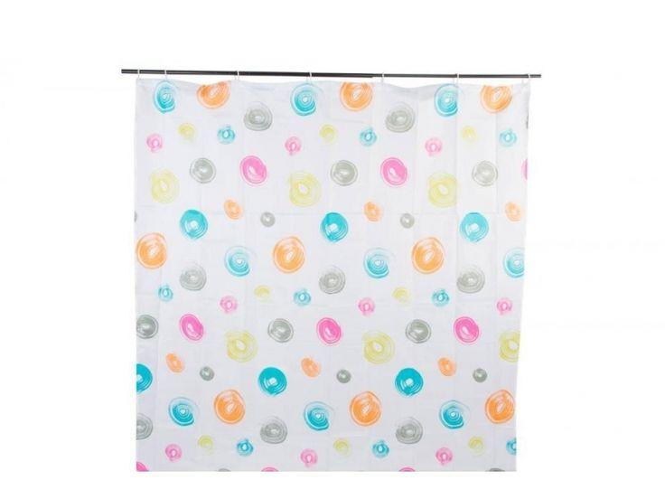 #cortinas #baño #aros de colores https://www.catayhome.es/categoria/cortinas-de-bano/